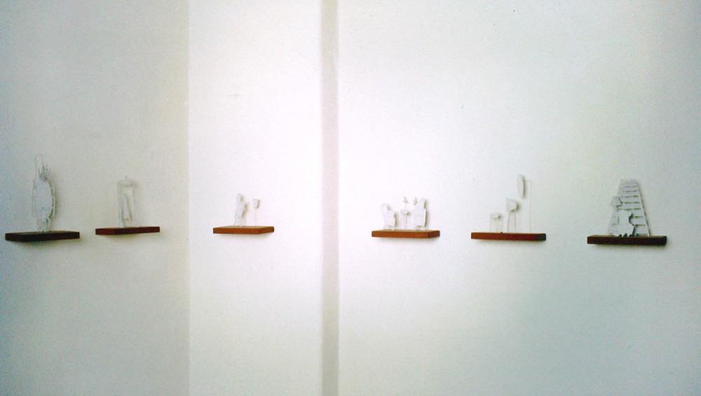 Das Schloss. Ausstellungansicht. Galerie Weißer Elefant Berlin