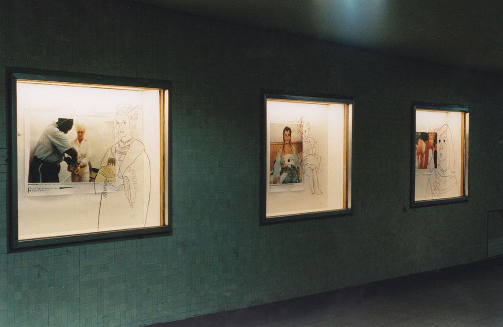 Ausstellung in der Dirty Windows Gallery. 1998